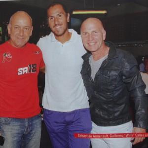 Con mi amigo Bruno Ricci y Guille Canas