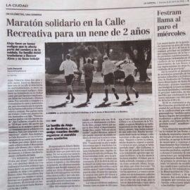 """Nota Diario """"La Capital Rosario"""" 1Km 1Sonrisa Rosario – TODOS x ALEJO"""""""