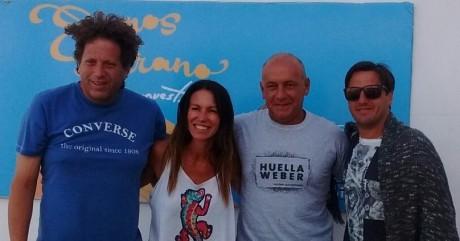 ESPN Pinamar, junto a Magui Aicega, Agustin Pichot y el Bebe Cointepomi