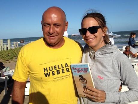 Con Ceci Ruffa, en su programa de radio en UFO POINT Pinamar