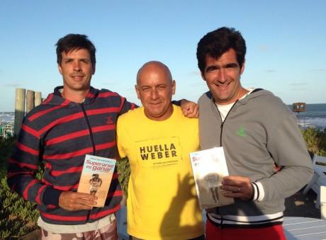 Con dos Grandes amigos y Ejemplos de Superarse es Ganar, Roman y Eduardo, en su programa Wiki Beach, en UFO POINT Pinamar. Un honor que tengan mi libro. Gracias y seguimos dejando Huella Weber.