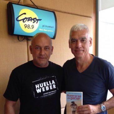 Con Macu, en Radio Coast Pinamar