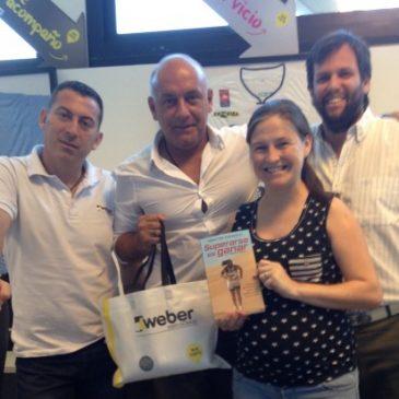 """Reunión con el equipazo de Marketing y Comunicación Weber, junto a Dario, Gisela y Gonzalo, con el libro: """"Superarse es Ganar"""""""